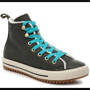 Women's Converse Leather Shoes (New)